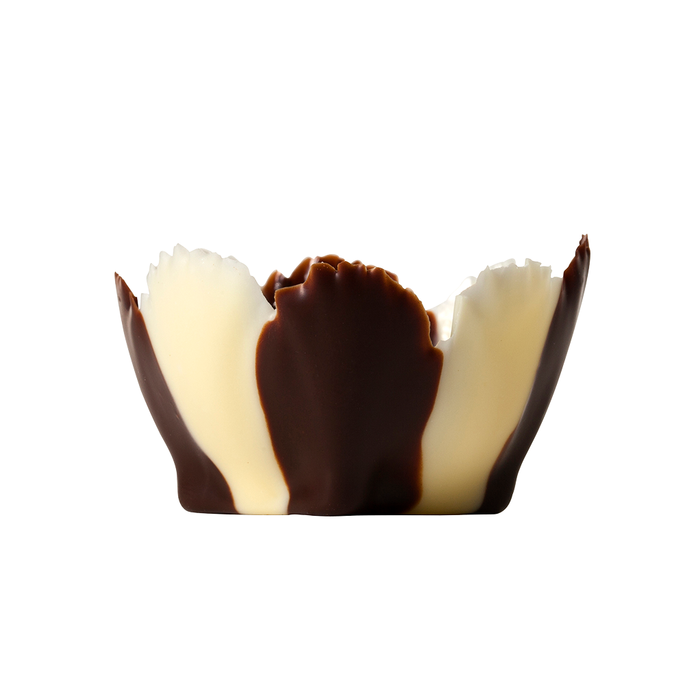 Signature cups - Dark & White Chocolate Iris Cups