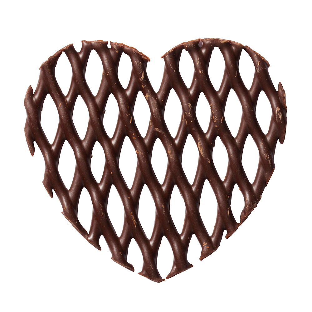 Rejillas - Dark Chocolate Heart Grids