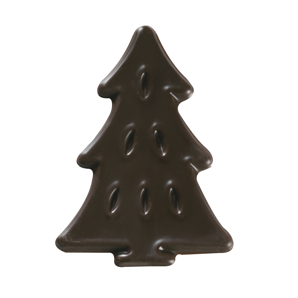 Kerstmis / Winter - Dark Chocolate Pine Figurettes
