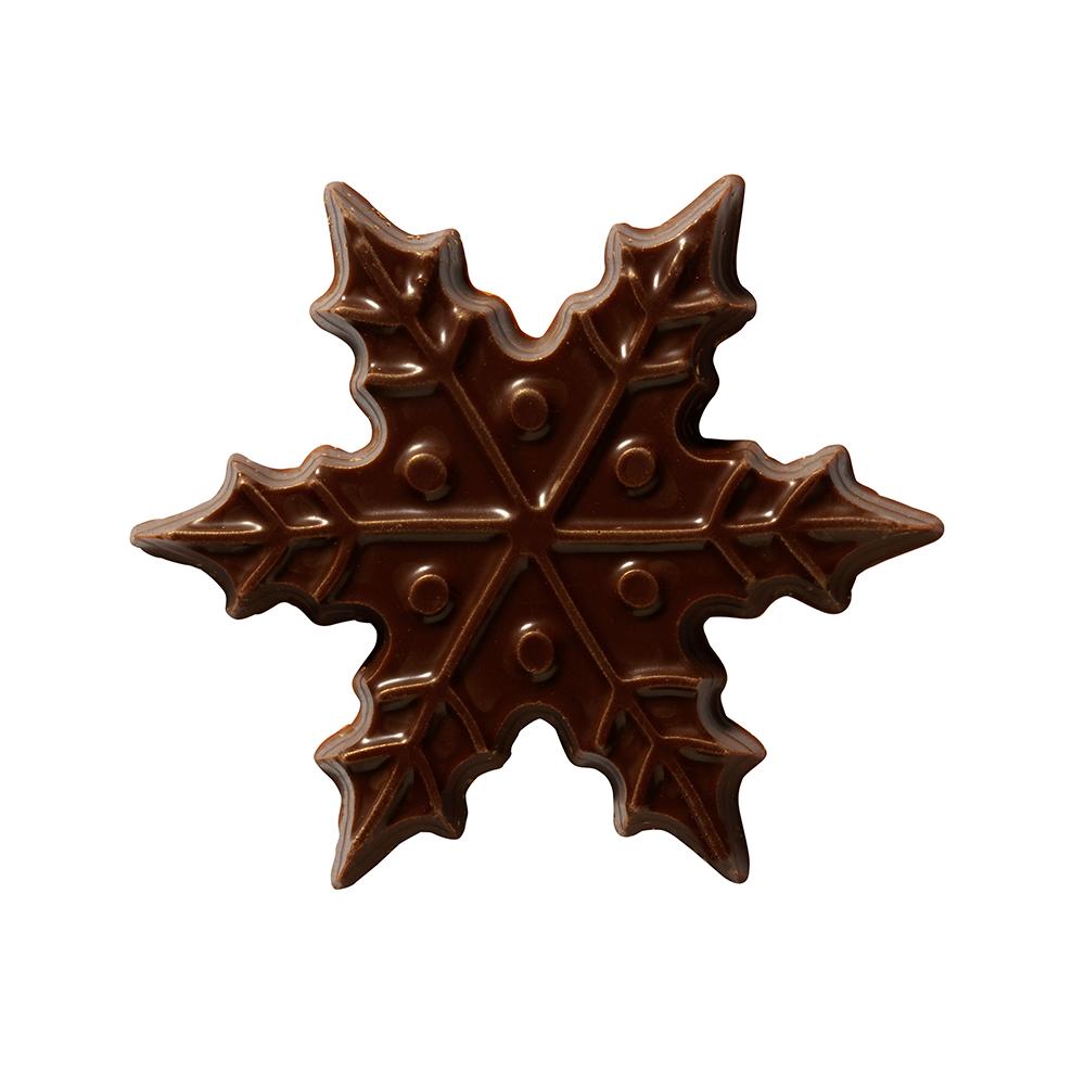 Navidad - Dark Chocolate Snowflake 6cm