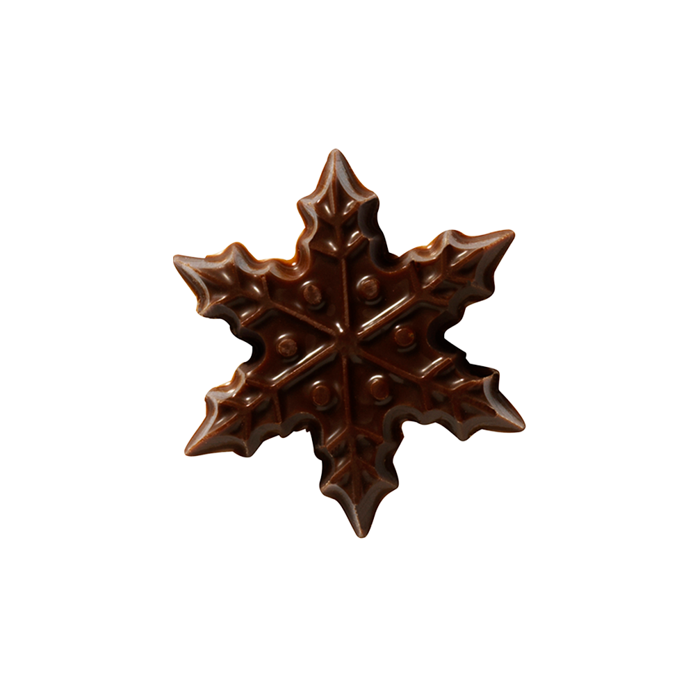 Christmas / Winter - Dark Chocolate Snowflake 3cm