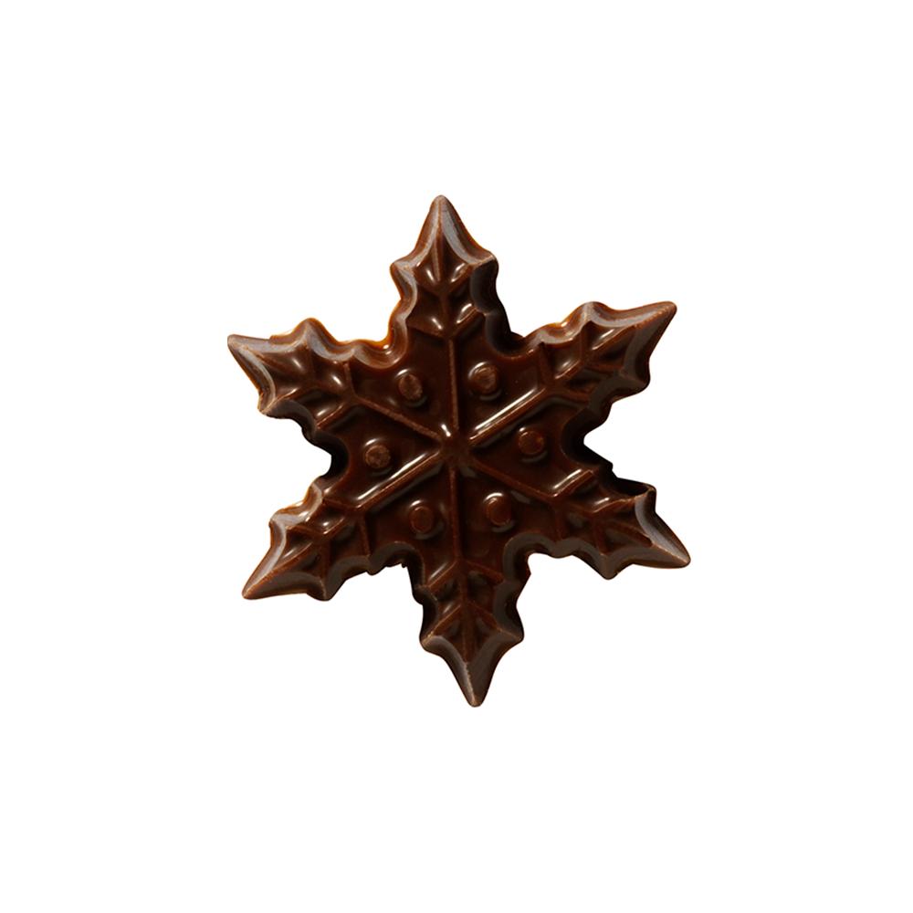 Navidad - Dark Chocolate Snowflake 3cm