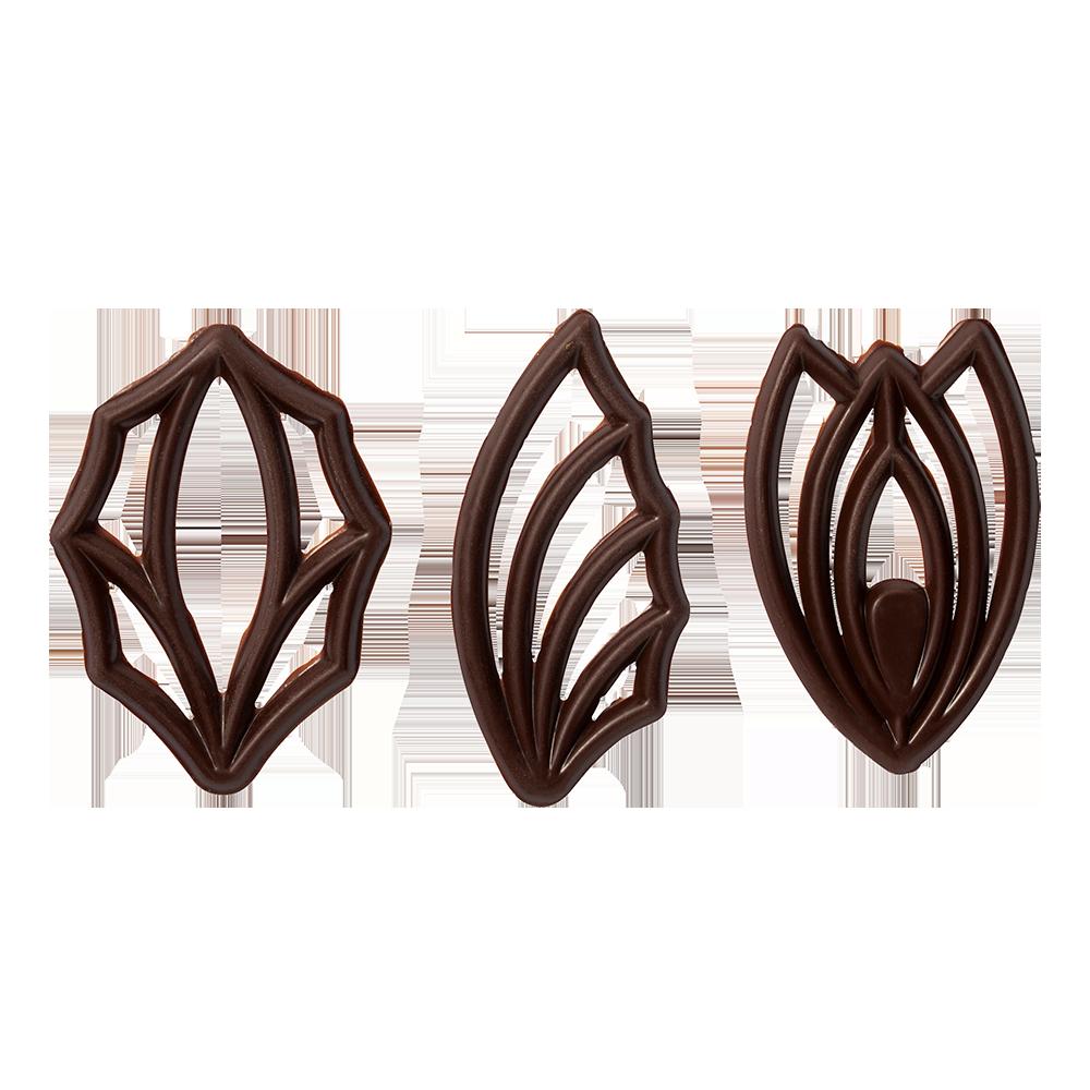 Open decorations - Dark Chocolate Top Décor Assortment
