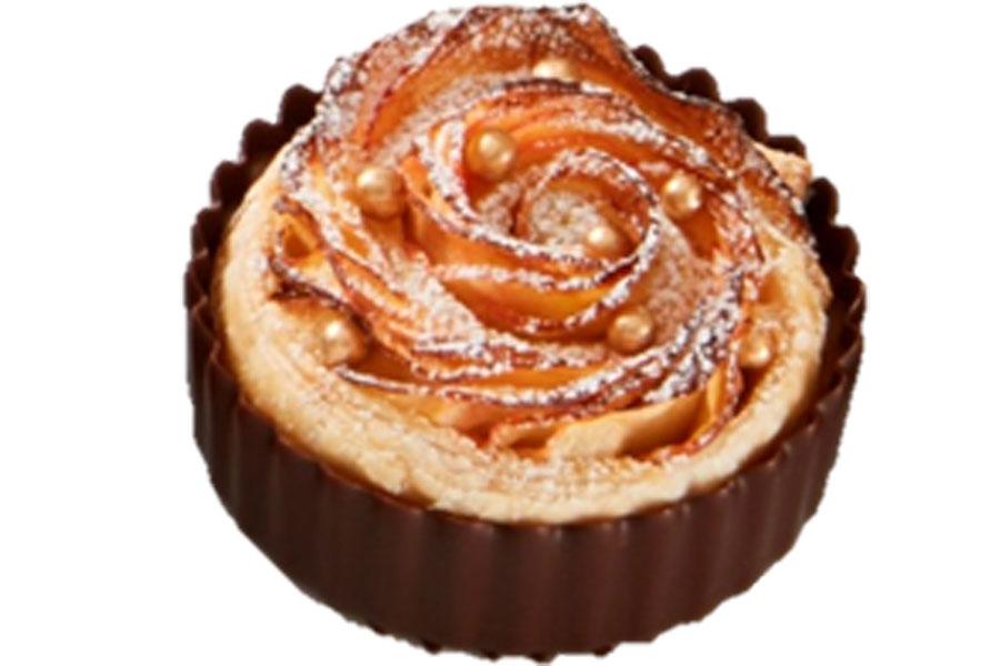 Apple rosette tart cup