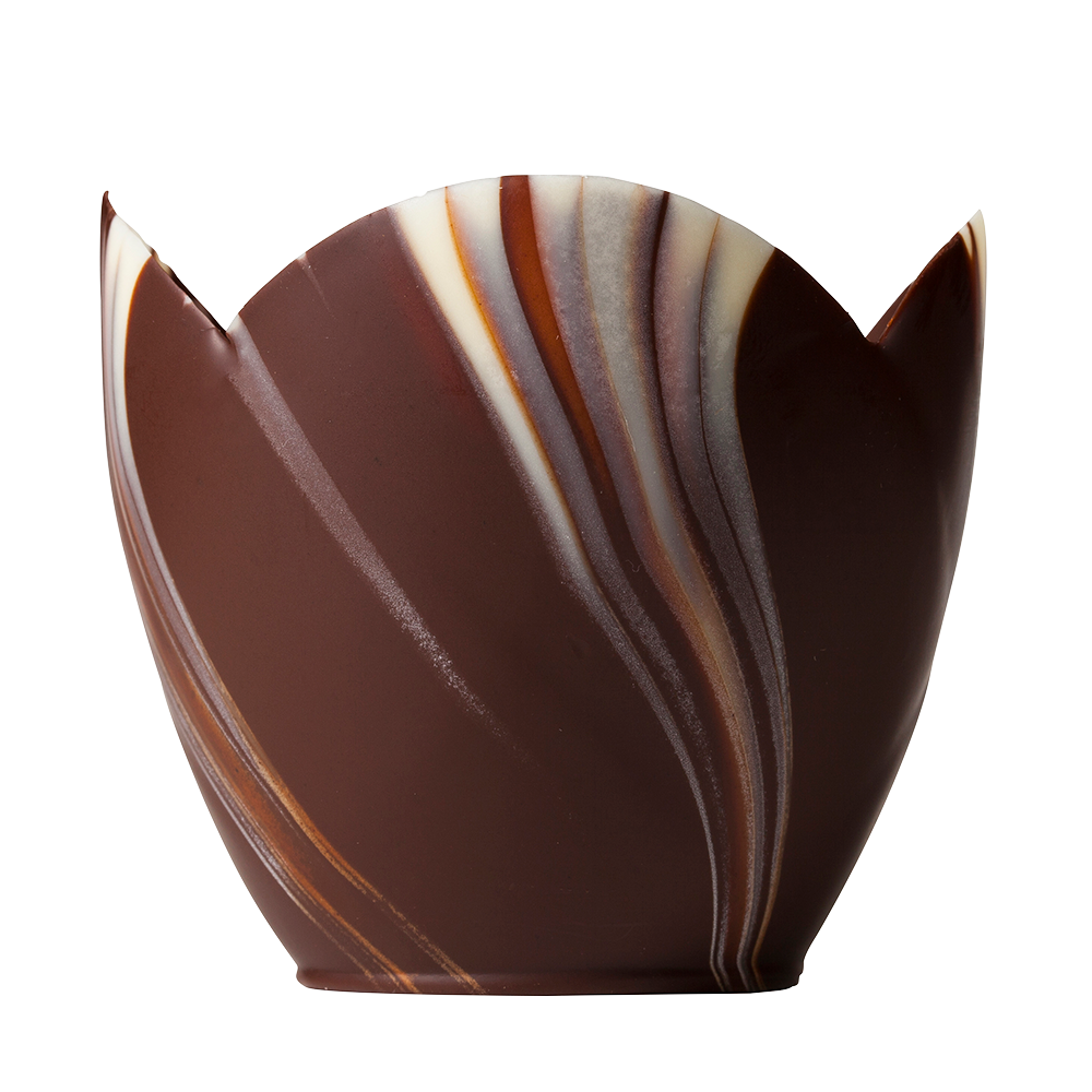 Marbled cups - Marbled Chocolate Tuilp Cups