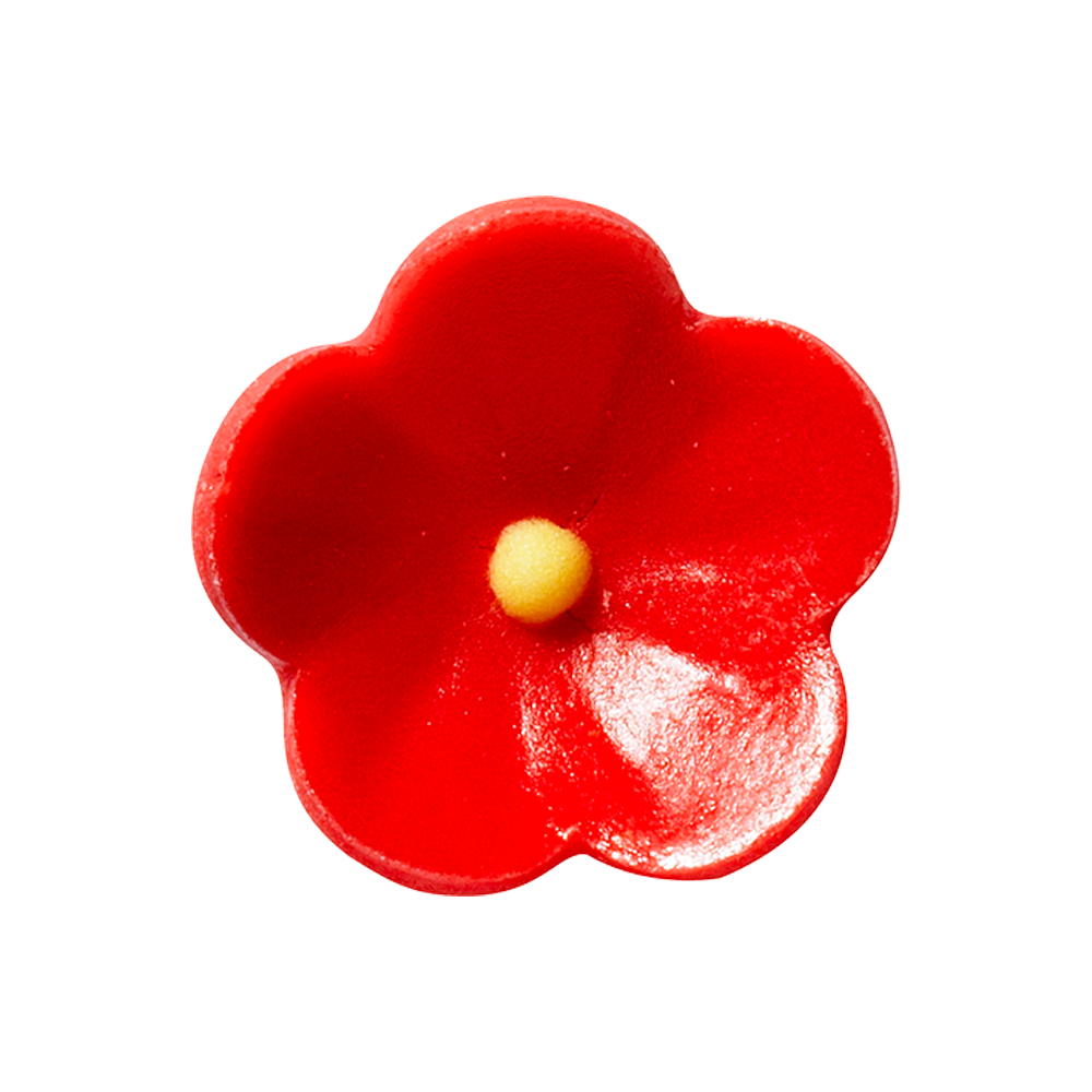 Marzipan flowers - Red Marzipan Flowers