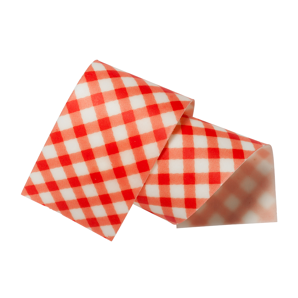 Cake collars - Almond and sugar collars vichy red 40mm