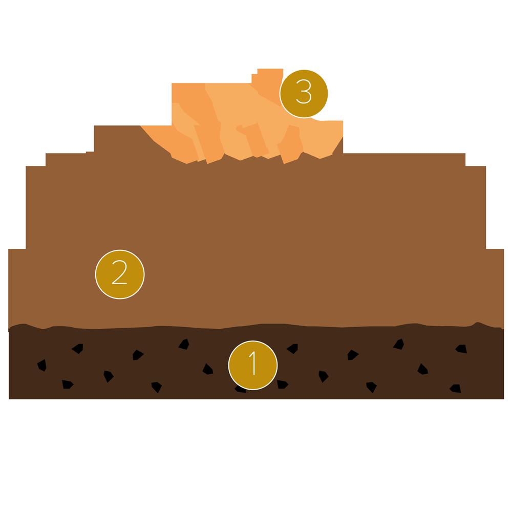 Este savarin de chocolate y pera