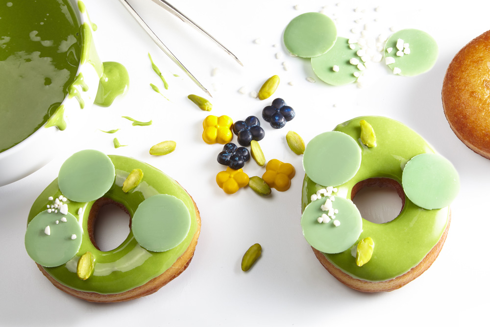 Green donuts