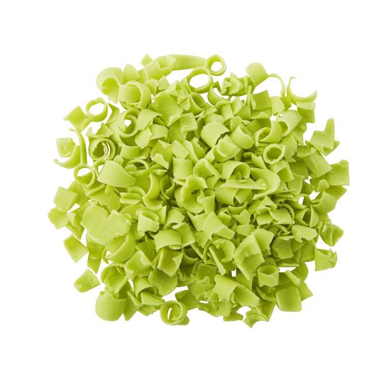 Blossoms - Natural Bright Green Décor Curls